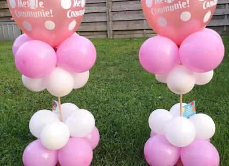 Ballon-tafelstukjes communie