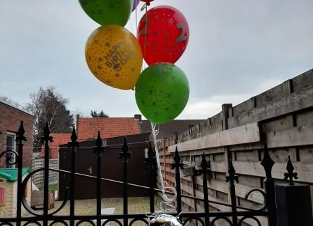 Ballonnentros met foliecijfer 2