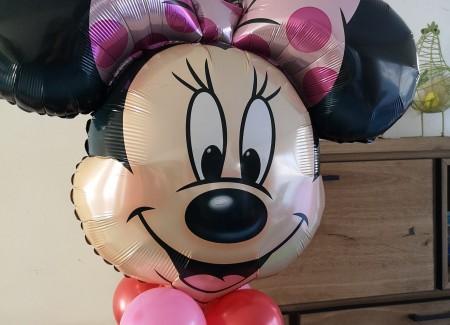 Ballonpilaar minnie mouse verjaardag