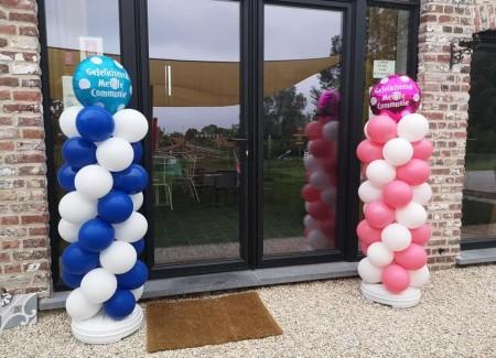 Ballonpilaren bij kinderboerderij Nest
