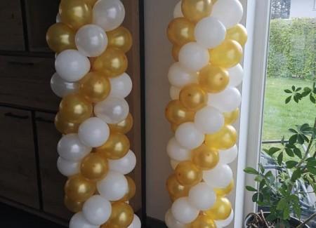 Ballonpilaren goud