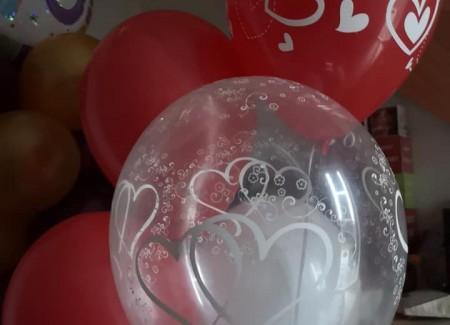 Heliumballonnen huwelijk