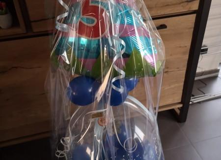 Kadoballon met folieballon 5 jaar
