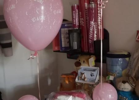 Pampertaart met ballonnen